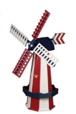 Red white and blue windmill