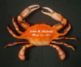 Crab used as a wedding decoration.