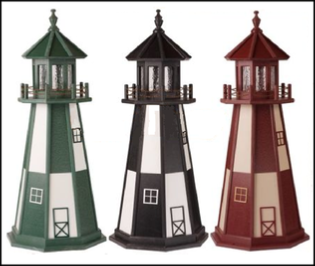 Polywood Lawn Lighthouses with Lighted Beacons. Chesapeakecrafts.com