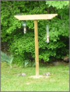 Free woodworking plans for a bird feeding station