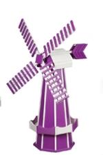 Purple and white windmill