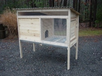 How to Build a 5 ft. Rabbit Hutch. Wood Plans Include Photos.