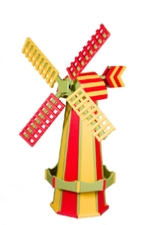 Rainbow colored windmill