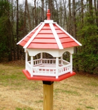 Plans for a Big Gazebo Platform Bird Feeder - Wood Plans with Photos.