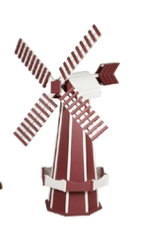 Red and white windmill