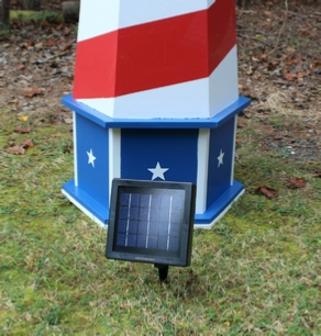 Solar panel next to lighthouse