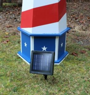Solar panel next to lighthouse