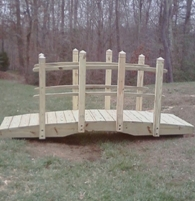 Arched garden bridge that I designed and built myself