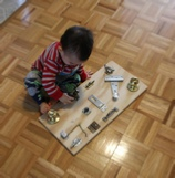 How to build a toddler gadget activity board