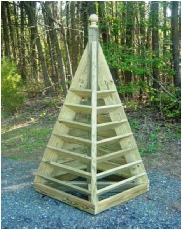 6 ft. pyramid strawberry planter