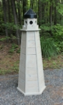 woodworking plans for a Lawn Lighthouse made of Pressure Treated Lumber