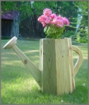 woodworking plans for a garden planter shaped like a watering can