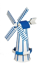White and Bright Blue Windmill
