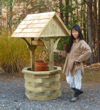 6 ft. wooden wishing well plans