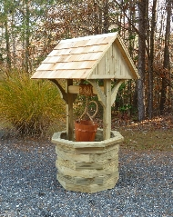 How to Build a  Wishing Well. Wood Plans with Photos.