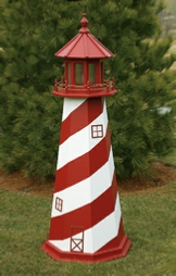 white shoal wooden lighthouse