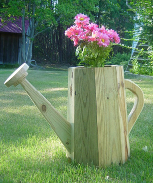 planter shaped like watering can